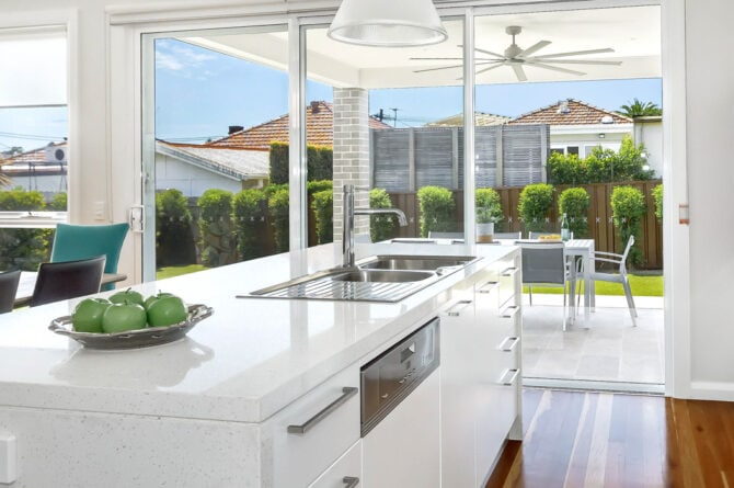 custom design white kitchen