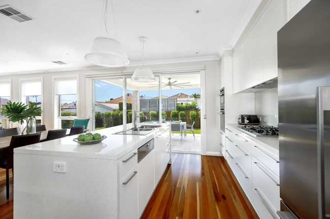 Image of contemporary kitchen in inner west knockdown rebuild